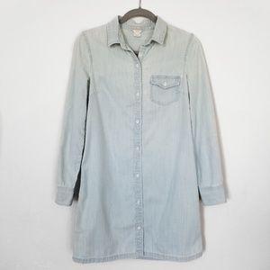 J.Crew Size 4 Light Color Denim Long Shirt